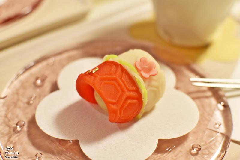 浦和花見 上生菓子 亀甲柄