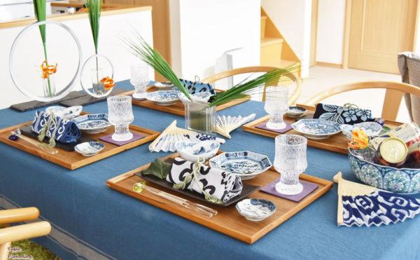 和食器のテーブルコーディネート例