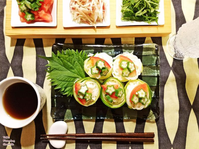 七夕の行事食の素麺