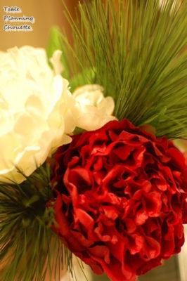 お正月のテーブルを飾る花