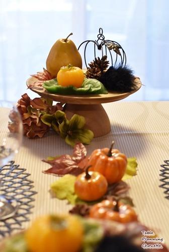 カボチャのハロウィンテーブル