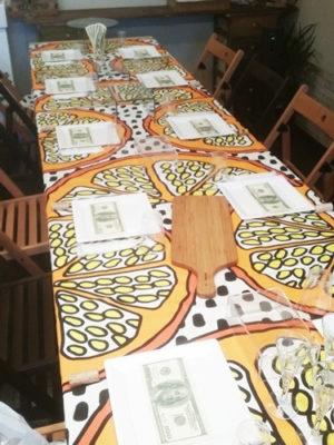 IKEAのテーブルクロス
