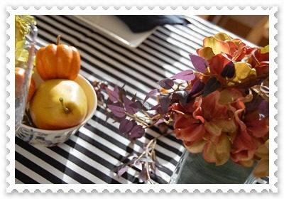 テーブルを彩るお花