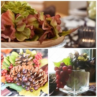 秋のお花のテーブルコーディネート