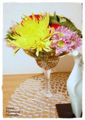 タイのガラスの器とお正月飾り