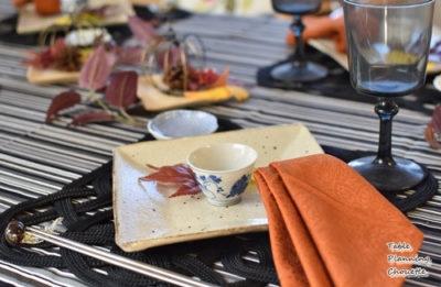和食器を使った大人のハロウィンテーブル