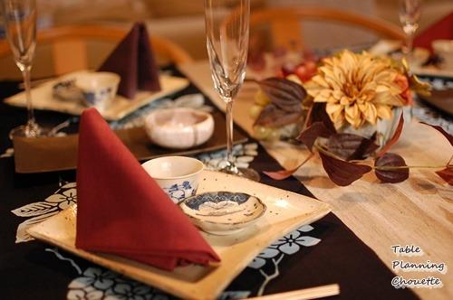 和食器・手ぬぐいを使ったテーブル