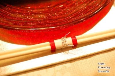 赤いガラスのお皿
