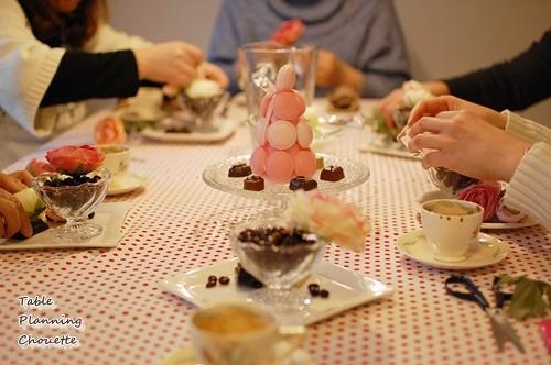 バレンタインのテーブル小物