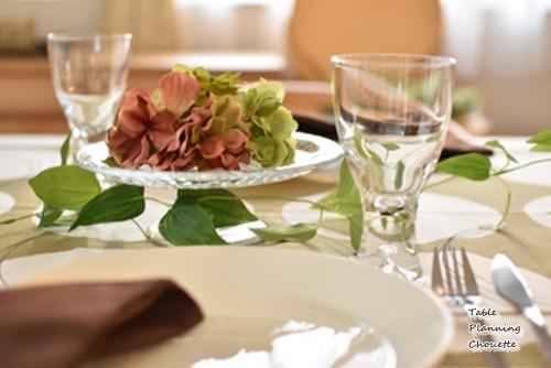 テーブルの上も秋の気配