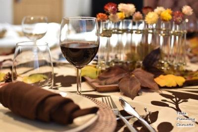 ワインのあるテーブルコーディネート