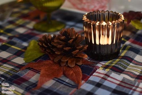 秋色キャンドルのテーブルコーディネート