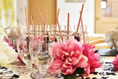 バレンタイン女子会テーブル