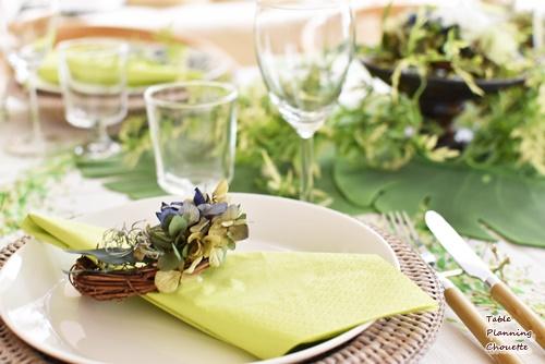 グリーンのナプキン