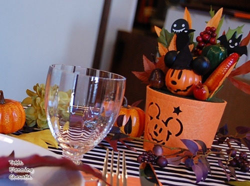 ハロウィンのテーブルコーディネート(お子様向け)