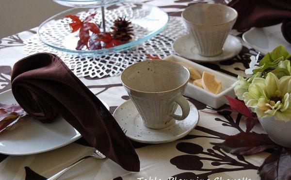 秋のお茶会コーディネート