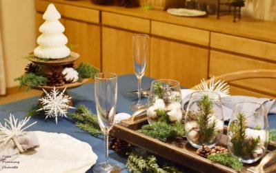 ナチュラルなクリスマステーブルコーディネート