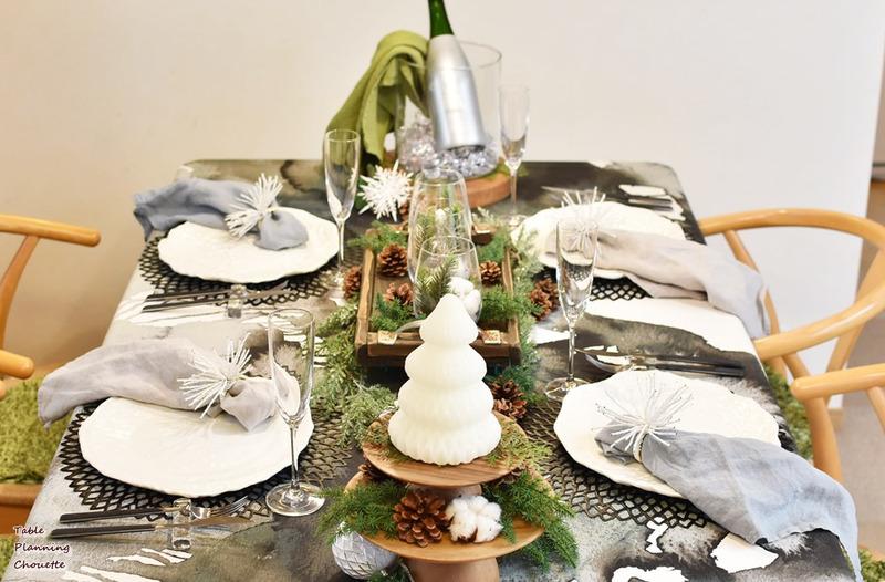 今年のクリスマスのテーブル
