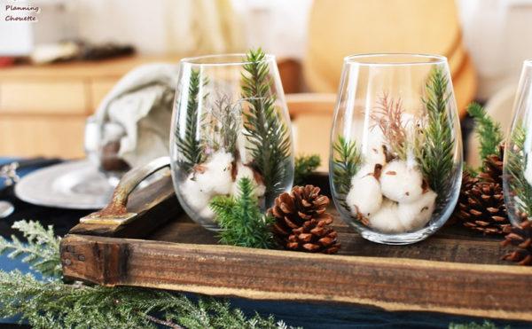 ナチュラルな木の素材のクリスマスオブジェ