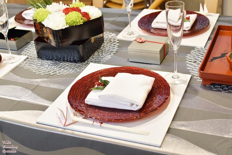 洋食器でお正月のテーブル