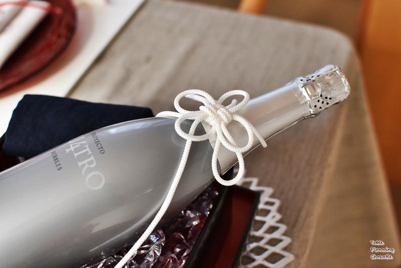 菊結びのボトル飾り