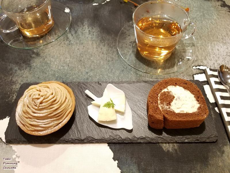 モンブランと栗のロールケーキ、和栗のチーズ