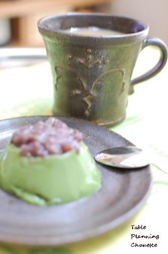 黒陶華のカップ お抹茶ぷりん
