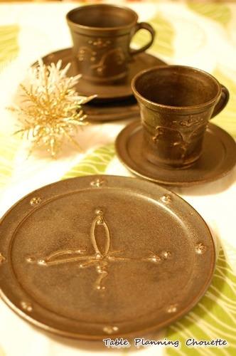 黒陶華のカップ&ソーサー