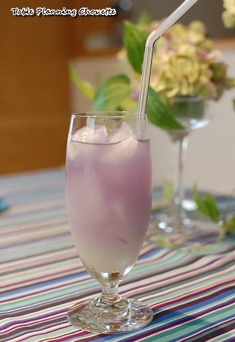 酸を加えると青→紫に色が変わる