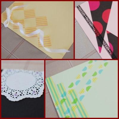 色画用紙でランチョンマット