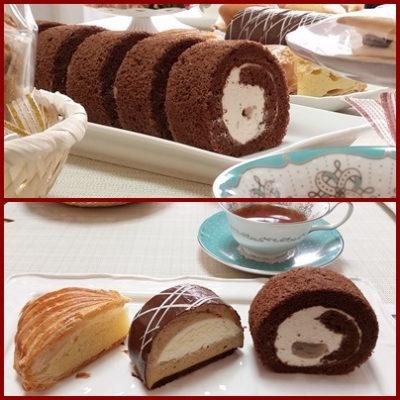 栗のロールケーキ Patisserie-Michi