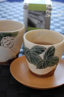 大谷桃子さん のアイビーカップ、ハスの実カップ
