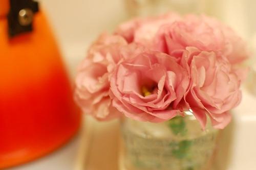 キッチンにお花