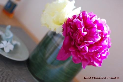 玄関にお花