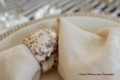 貝殻のナプキンリング