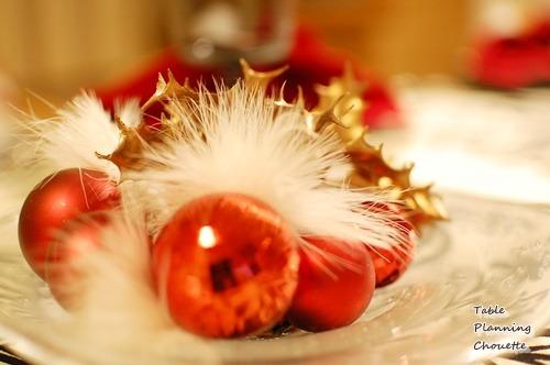 赤&ゴールド クリスマスディスプレイ