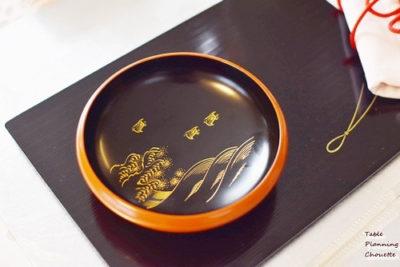 夏の絵柄の漆器の小皿