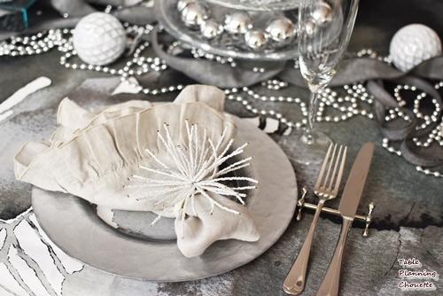 白いヒトデみたいな華やかなナプキンリング