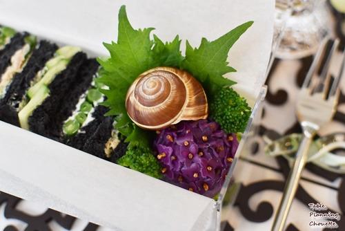 おべんとうレッスンで作る紫陽花も紫色