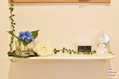 トイレに紫陽花