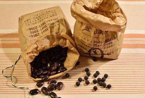 黒豆と花豆