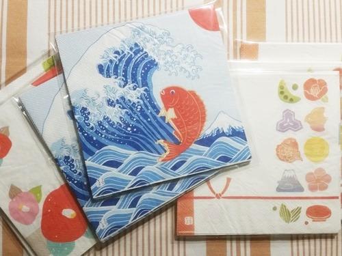 和柄の紙ナプキン
