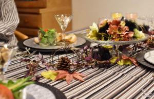 ハロウィンのテーブルコーディネートで ミニランチ