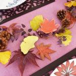 紅葉と銀杏の豆皿