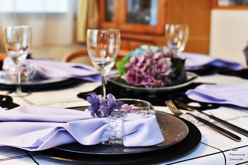 紫陽花のテーブル
