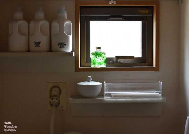 洗面所のハーバリウム