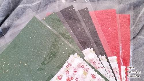 色和紙と和柄の紙ナプキンのセット