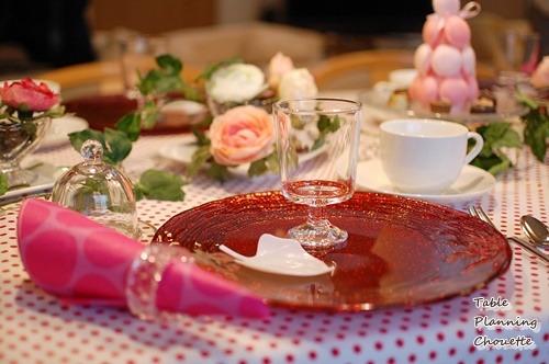 バレンタインの赤いお皿コーディネート