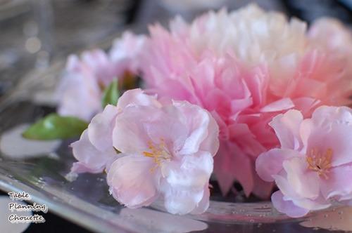 お花見のテーブルコーディネート