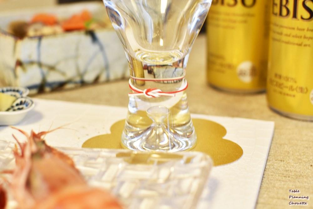 グラスの足に水引